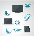 Set of web Icons and business and abstract symbols vector image
