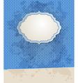 Blue striped vintage background vector image vector image