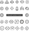 LETTERS CREST vector image