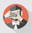 Modern Flat Design Camera Man vector image