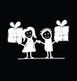 children with presents vector image