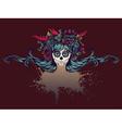 Sugar Skull Girl in Flower Crown12 vector image
