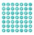Business flat web icons set vector image