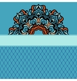 Abstract ethnic ornamental background border vector image