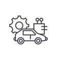 automated car concept thin line icon vector image