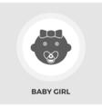 Baby girl Flat Icon vector image