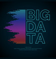 big data concept poster with the visualization vector image