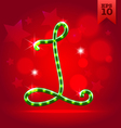 Electric green garland christmas new year abc vector image