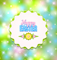 Happy Easter badge vector image