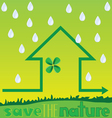 save the nature with rain vector image