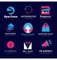 Set of bright modern logos vector image