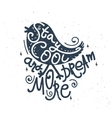 Stay cool and dream more - hand-drawn retro bird vector image