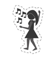 woman dancing icon design vector image