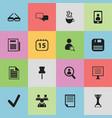set of 16 editable bureau icons includes symbols vector image