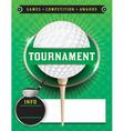 Golf Tournament Template vector image