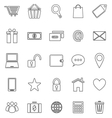 Ecommerce line icons on white background vector image vector image