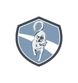 Husky Dog Crest Retro vector image
