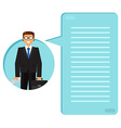 Successful businessman with a suitcase vector image