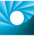 abstract blue aperture vector image vector image