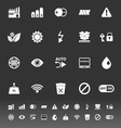 Electronic sign icons on gray background vector image