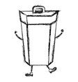 garbage bin comic character vector image