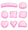 set of pink frame vector image