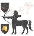 Shooting Centaur Archer vector image vector image