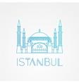 Hagia Sophia - the symbol of Turkey Istanbul vector image