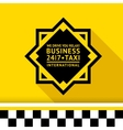 Taxi badge 11 vector image