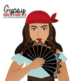 Gipsy design vector image vector image