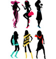 glam shopping girls vector image