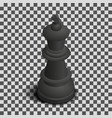 black king chess piece isometric vector image