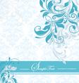 Blue floral invitation card vector image