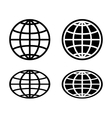 Globe icon set vector image