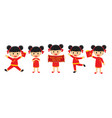 happy chinese new year girl in traditional vector image