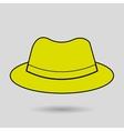 hat icon design vector image