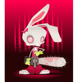 Horror bunny with background vector image