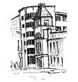 sketch of city buildings vector image