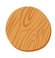 Wooden cutting pizza board isolated on vector image