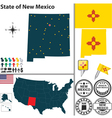 Map of New Mexico vector image