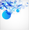 Blue Christmas abstract background vector image vector image