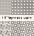 6 Retro Geometric Seamless Patterns vector image vector image