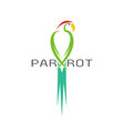 a parrot design on white background bird icon vector image