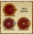 Archaic wheel of fortune with sector vector image