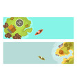 cartoon tropical brochure exotic island in ocean vector image