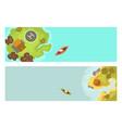 cartoon tropical brochure exotic island in ocean vector image
