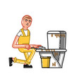 cleaning service man vector image