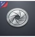 diaphragm icon symbol 3D style Trendy modern vector image