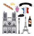 France culture design vector image