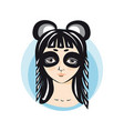 girl in panda costume portrait avatar vector image
